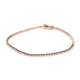 14KT GOLD 3 PRONG TENNIS BRACELET