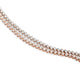 14KT ROSE GOLD TENNIS BRACELET WITH 3-PRONG SETTING