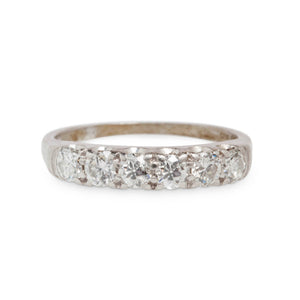 VINTAGE PLATINUM & DIAMOND ANNIVERSARY BAND
