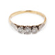 ANTIQUE PLATINUM & 18KT THREE STONE DIAMOND RING