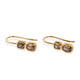 18KT TWO-STONE DIAMOND BROWN EARRINGS
