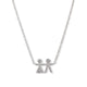14KT WHITE GOLD & DIAMOND MALE & FEMALE STICK FIGURE NECKLACE