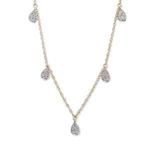 14KT YELLOW GOLD & DIAMOND PEAR-SHAPED DROP NECKLACE