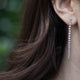 14KT & DIAMOND TAPERED STRAIGHT LINE EARRINGS