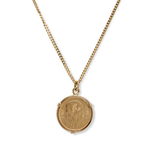 18KT VINTAGE COIN PENDANT ON CHAIN