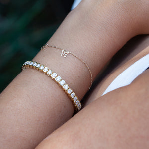 14KT YELLOW GOLD BUTTERFLY BRACELET