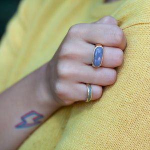 VINTAGE JADE SADDLE RING