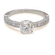 18KT ROUND BRILLIANT ENGAGEMENT RING