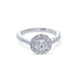 18KT ROUND BRILLIANT HALO-SET ENGAGEMENT RING
