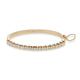18KT YELLOW GOLD & DIAMOND BANGLE BRACELET