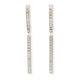 14KT & DIAMOND DANGLING LINE EARRINGS