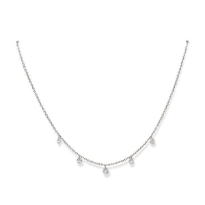 18KT DANGLING DIAMOND NECKLACE
