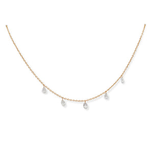 18KT MIX-SHAPE ROSE CUT NECKLACE