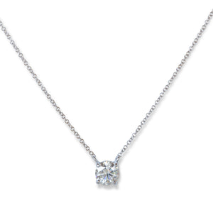 18KT & DIAMOND SOLITAIRE NECKLACE