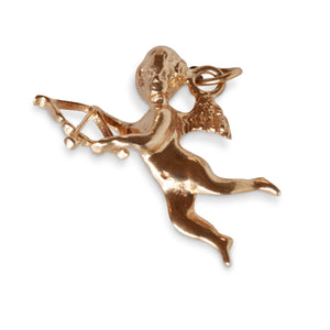 14KT YELLOW GOLD CUPID CHARM