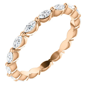 GOLD & MARQUISE DIAMOND ETERNITY BAND