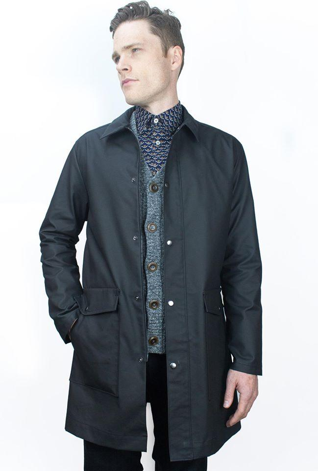 Alu Tarmac Raincoat - Blue interior