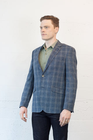 Textured Check Blazer