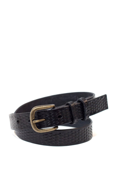 Black Leather Gecko Belt
