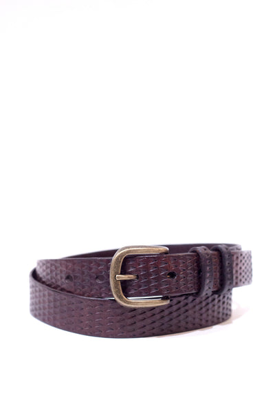 Dark Brown Leather Gecko Belt