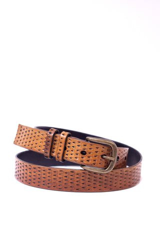 Tan Leather Gecko Belt