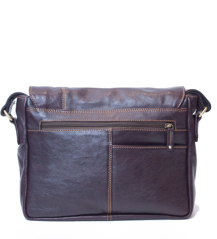Burgundy Leather Messenger Bag