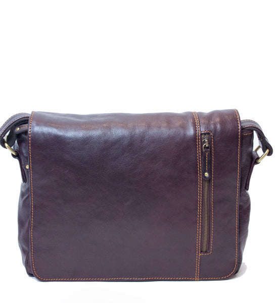 Messenger Bag Medium Burgundy