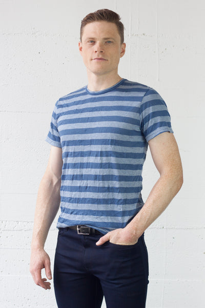 Frequency Tee Crumple Stripe