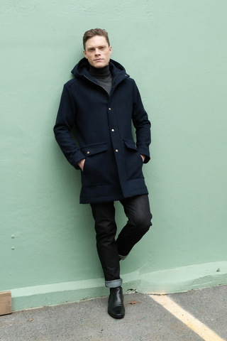 Climate Coat NZ Wool Blue