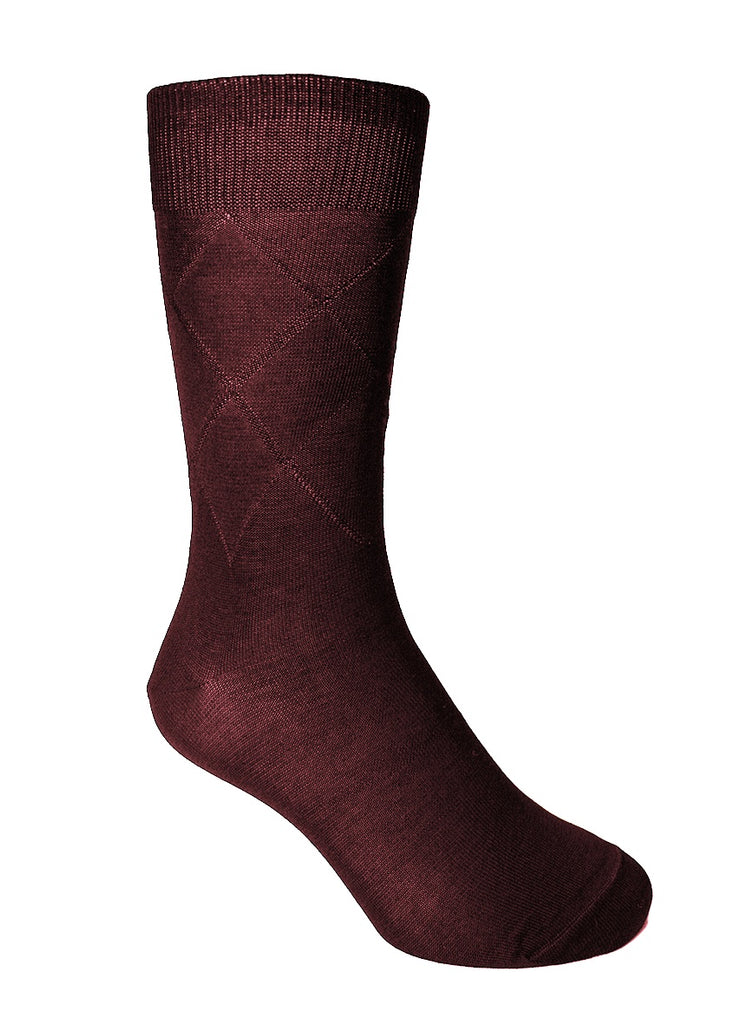 Socks Burgundy Diamonds