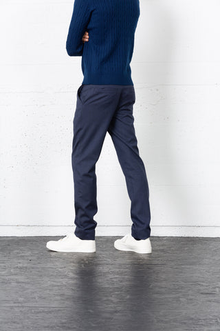 Blue Wool Belmont Trousers