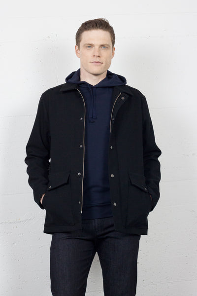 Parka Black Canvas