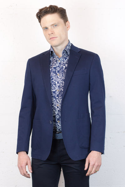 Stretch Navy Blazer