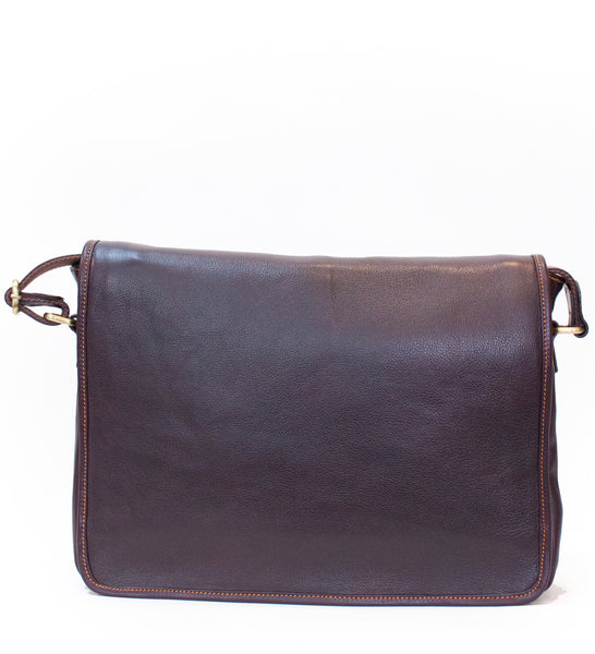 Burgundy Large Messenger Bag