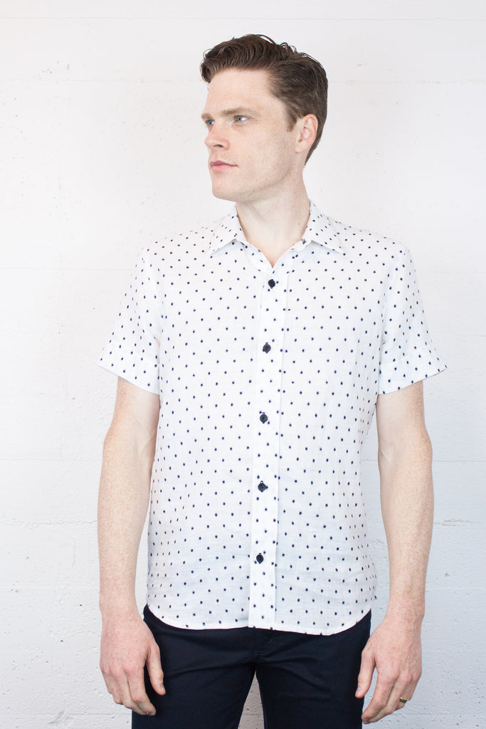 Fairlane Shirt White Dot
