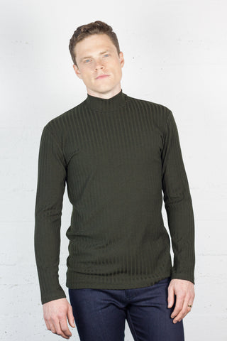 Ribbed Turtle Neck Fig