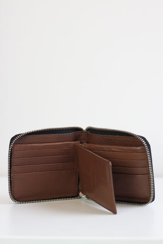 Wallet RFID Zip Around Tan