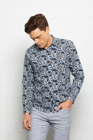 Tux Shirt Midnight Floral