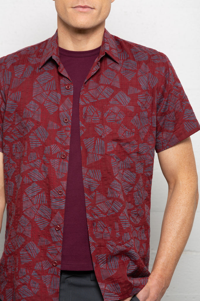 Tanqueray Short Sleeve Shirt Crimson
