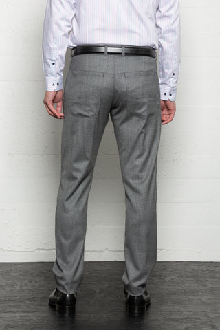 Hendricks Silver Wool Trousers