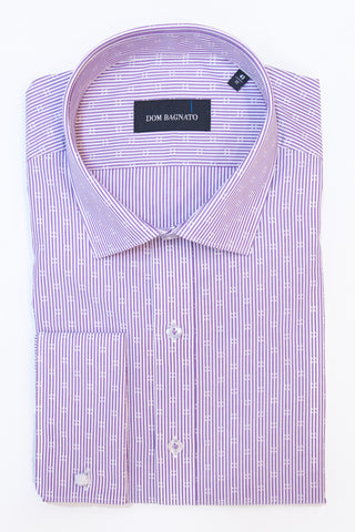 Mauve Pattern Dress Shirt