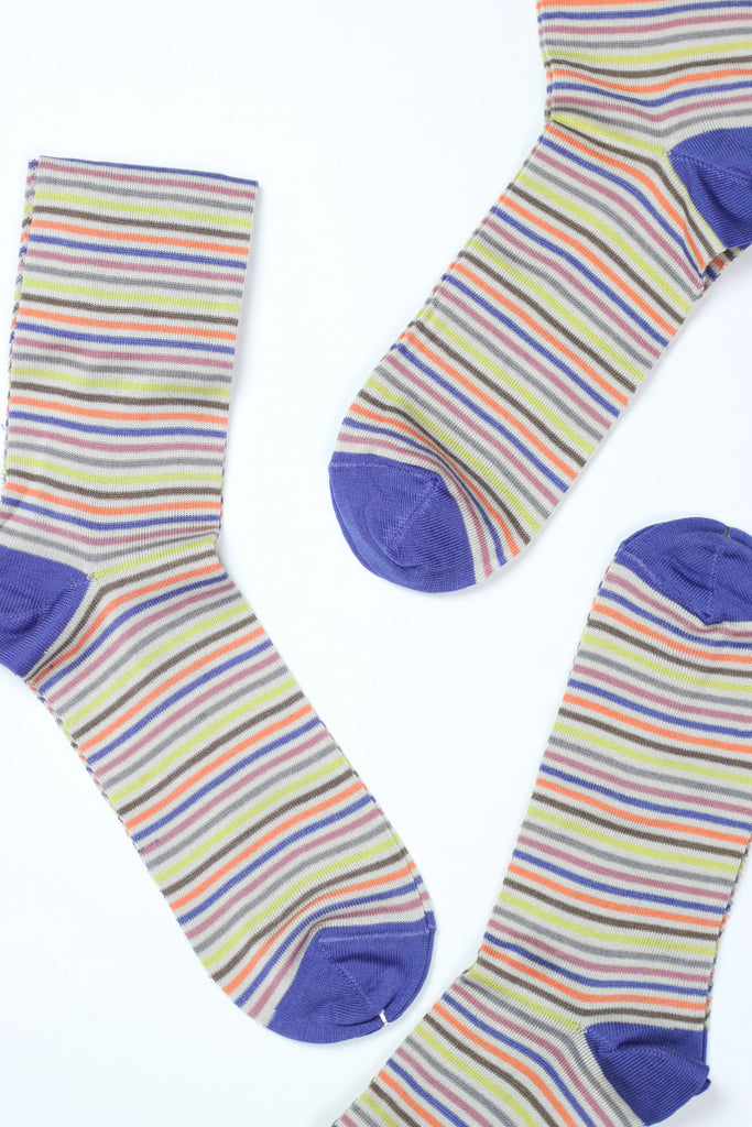 Socks Multi Stripe Yellow