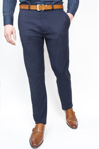 Belmont Navy Cotton Trousers