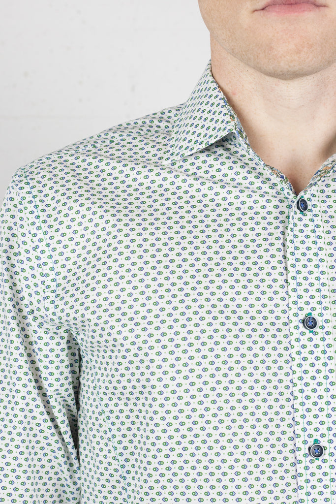 LFD Shirt LS Green Spheres