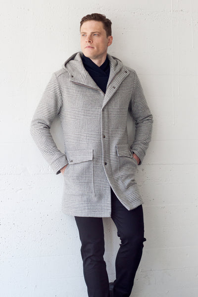 Climate Coat Silver Plaid