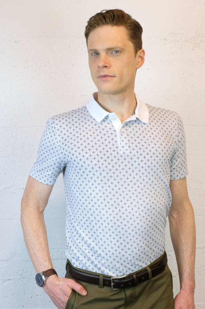 Pewter Grid Polo