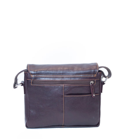 Burgundy Leather Post Bag