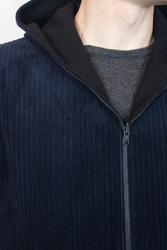 Navy Cord/Black Wool Reversible Jacket