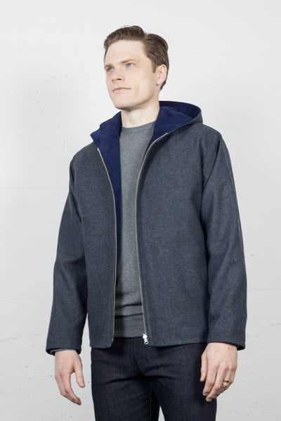 Reversible Jacket Navy Cord/Wool HB