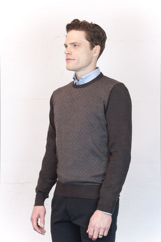 Brown Basket Weave Jumper